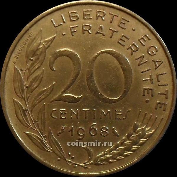 20 сантимов 1968 Франция.