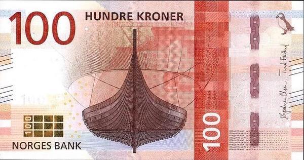 100 крон 2016 (2017) Норвегия.