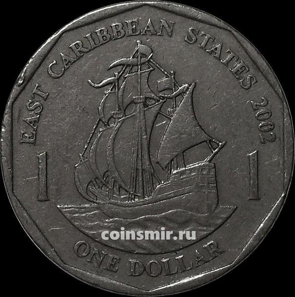 1 доллар 2002 Восточные Карибы.