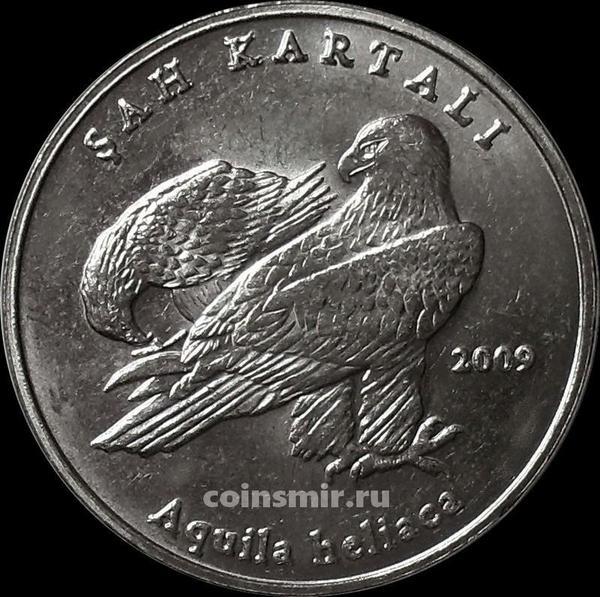 1 лира 2009 Турция. Орел.