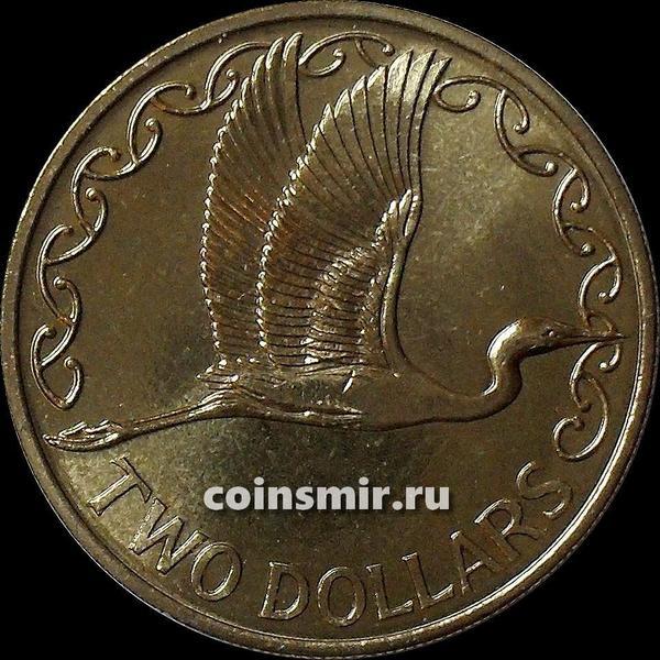 2 доллара 1991 Новая Зеландия. Белая цапля.