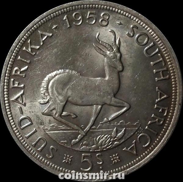5 шиллингов 1958 Южная Африка ЮАР. Газель. 5 шиллингов 1956 Южная Африка ЮАР. Газель.