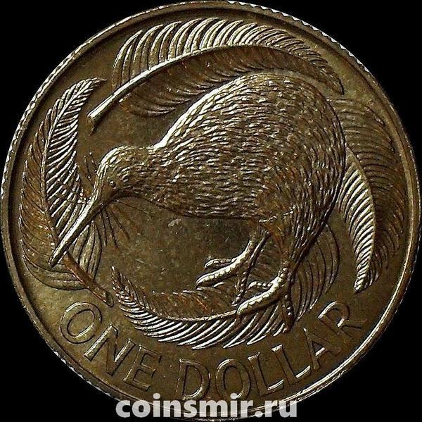 1 доллар 1991 Новая Зеландия. Птица киви.