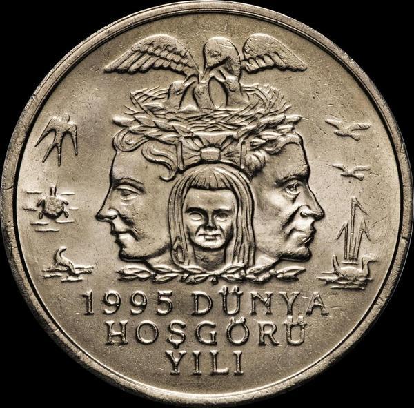 25000 лир 1995 Турция. Охрана окружающей среды.