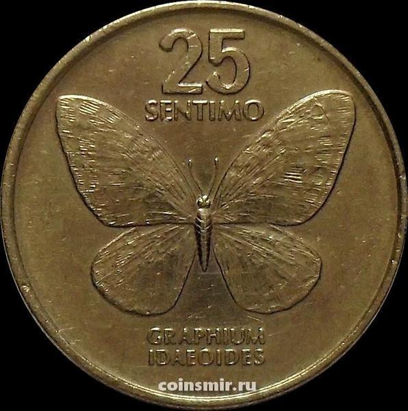 25 сентимо 1986 Филиппины. Бабочка.