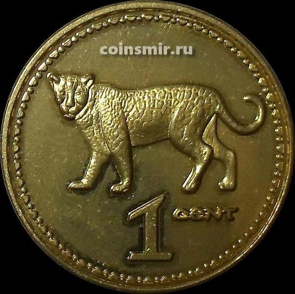 1 центов  2018 Родезия. Леопард.