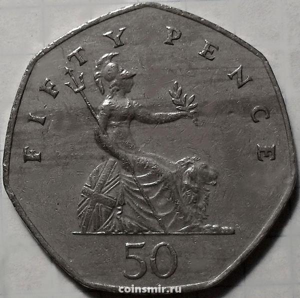50 пенсов 1985 Великобритания.