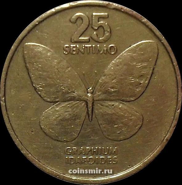 25 сентимо 1985 Филиппины. Бабочка.