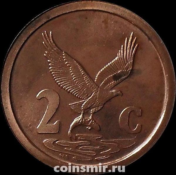 2 цента 1991 Южная Африка.