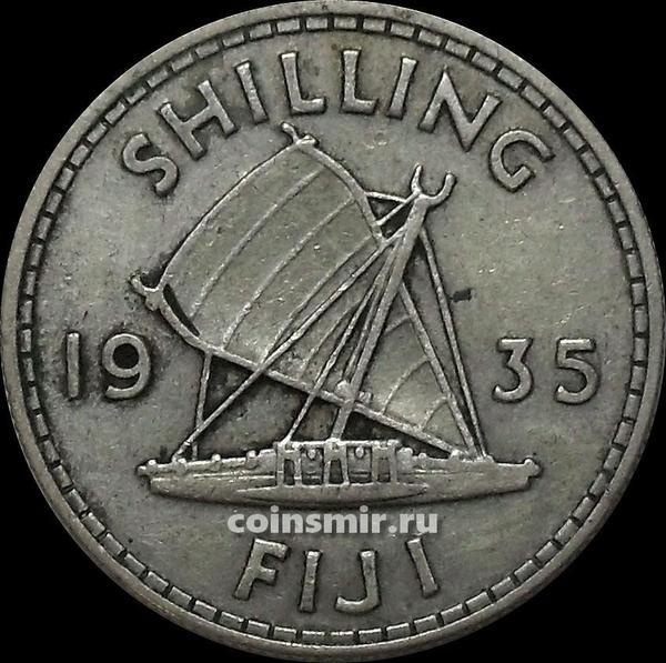 1 шиллинг 1935 Фиджи. Король Георг V (1911 - 1936).