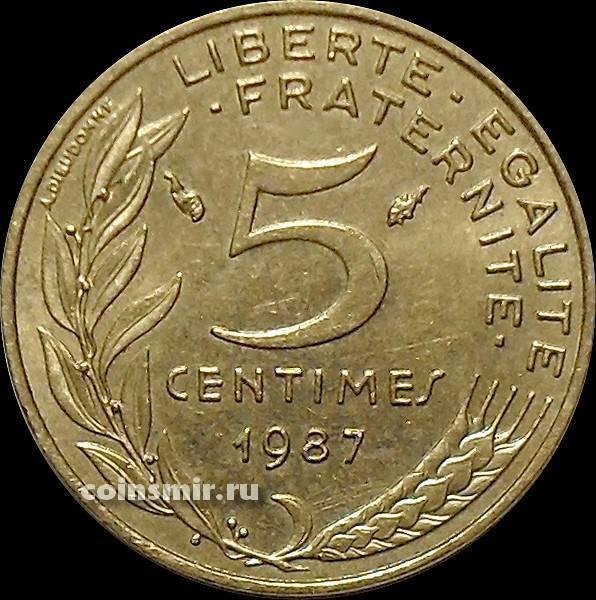 5 сантимов 1987 Франция.