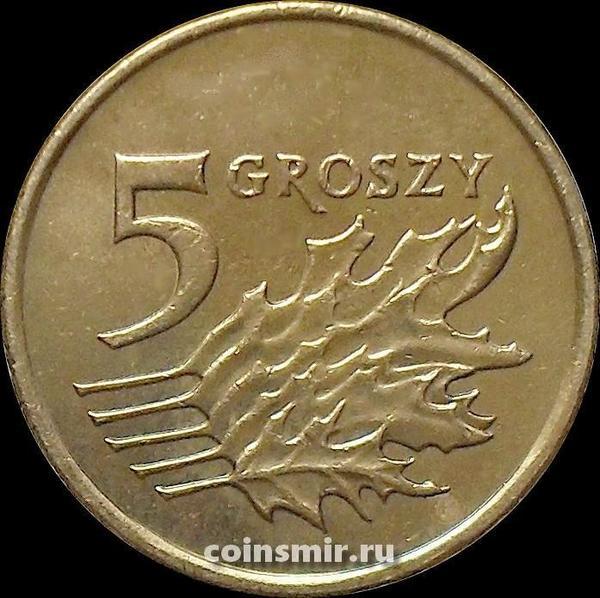5 грошей 2010 Польша.