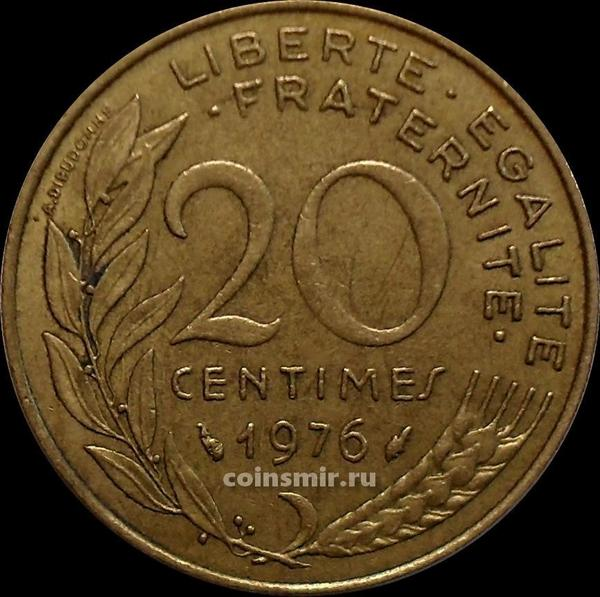 20 сантимов 1976 Франция.