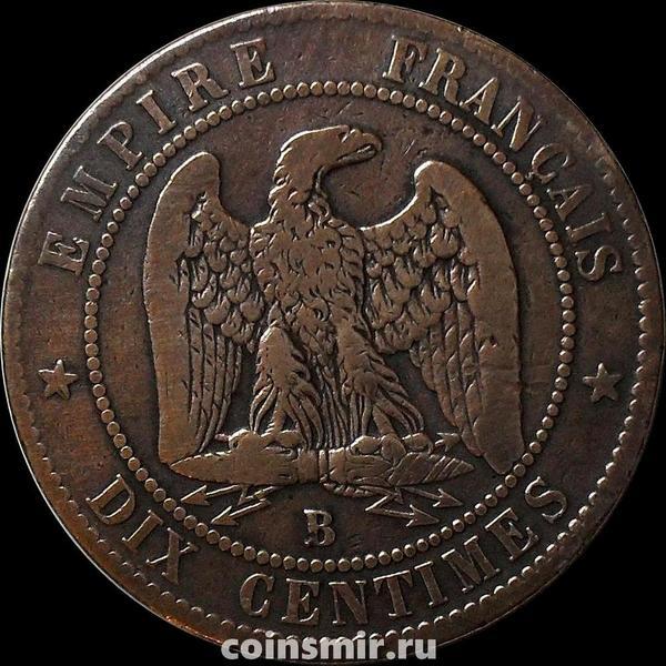 10 сантимов 1856 В Франция.