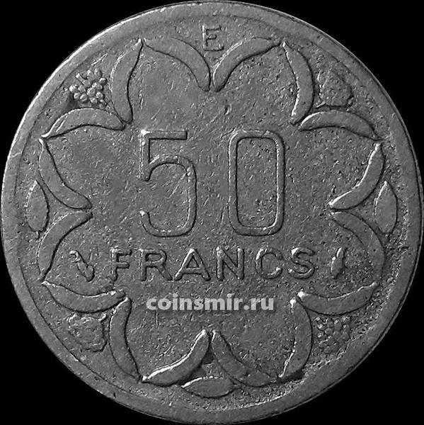 50 франков 1977 Центральная Африка. Е-Камерун.