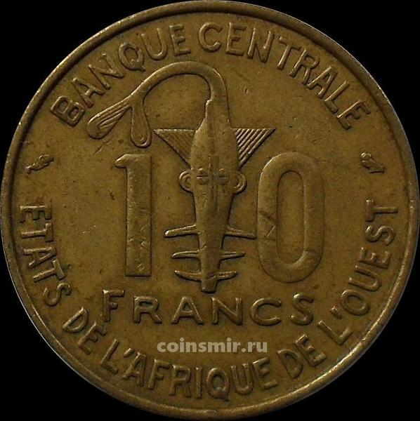 10 франков 1974 КФА BCEAO (Западная Африка).