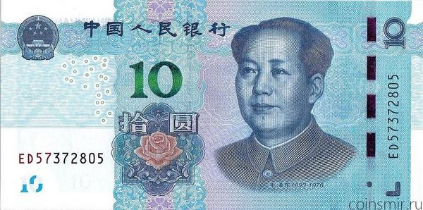 10 юаней 2019 Китай.