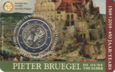 2 евро Бельгия 2019 г. 450 лет со дня смерти Питера Брейгеля Старшего (в блистере)