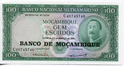 100 эскудо 1976 г. Мозамбик