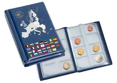 """Альбом для евро монет на 12 наборов стран еврозоны. """"Leuchtturm"""" Германия."""