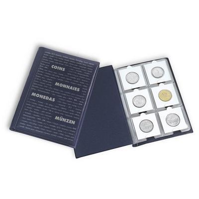 """Альбом для монет в холдерах на 60 монет. """"Leuchtturm"""" (Германия)."""