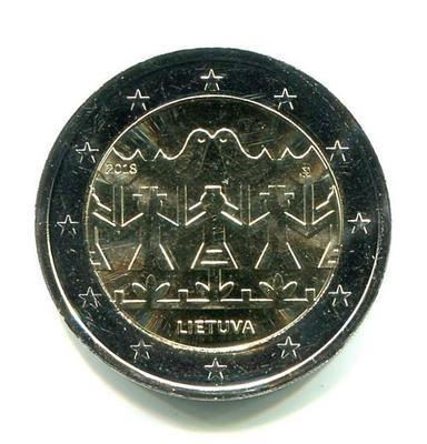 2 евро Литва 2018г. Праздник песни.