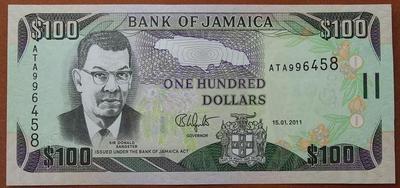 Ямайка 100 долларов 2011 год