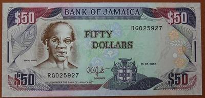 Ямайка 50 долларов 2010 год