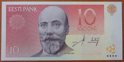 Эстония 10 крон 2007 год