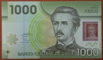 Чили 1000 песо 2010 год