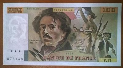 Франция 100 франков 1979 год XF