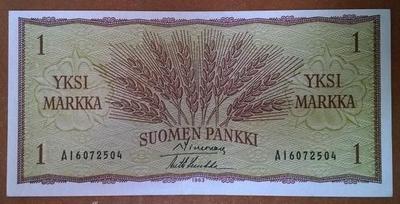 Финляндия 1 марка 1963 год