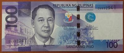 Филиппины 100 песо 2010 год