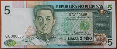 Филиппины 5 песо 1985-1994 год