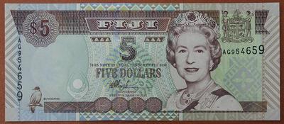 Фиджи 5 долларов 2002 год
