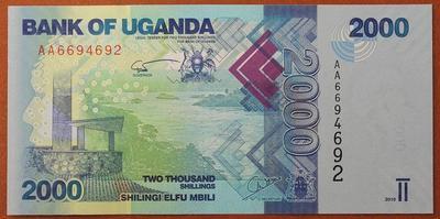 Уганда 2000 шиллингов 2010 год