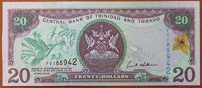 Тринидад и Тобаго 20 долларов 2006 год
