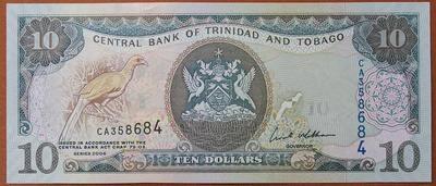 Тринидад и Тобаго 10 долларов 2006 год