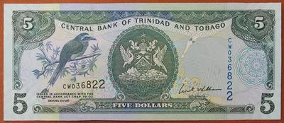 Тринидад и Тобаго 5 долларов 2006 год