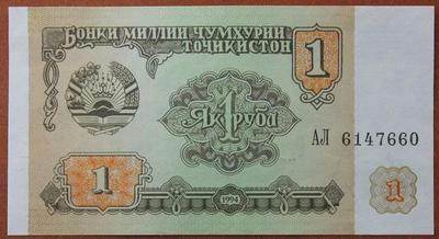 Таджикистан 1 рубль 1994 год