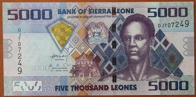 Сьерра-Леоне 5000 леоне 2010 год