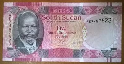 Южный Судан 5 фунтов 2011 год
