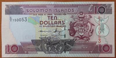 Соломоновы острова 10 долларов 2006 год