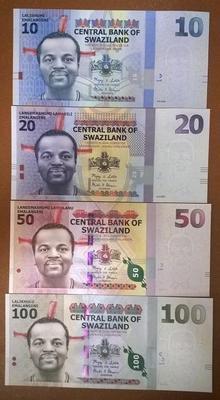 Свазиленд 4 банкноты 10,20,50,100 эмалангени 2010 год