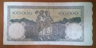 Румыния 100000 лей 1946 год