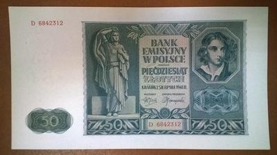Польша 50 злотых 1941 год