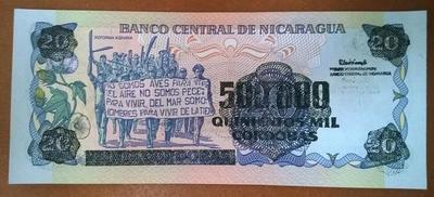 Никарагуа 500000 кордоба 1987 год