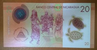 Никарагуа 20 кордоба 2014 год