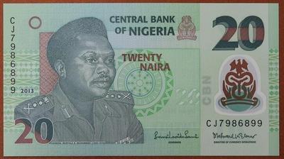 Нигерия 20 найра 2013 год
