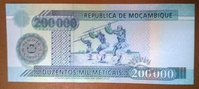 Мозамбик 200000 метикалов 2003 год